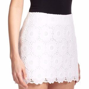 Lilly Pulitzer Tate White Lace Skirt